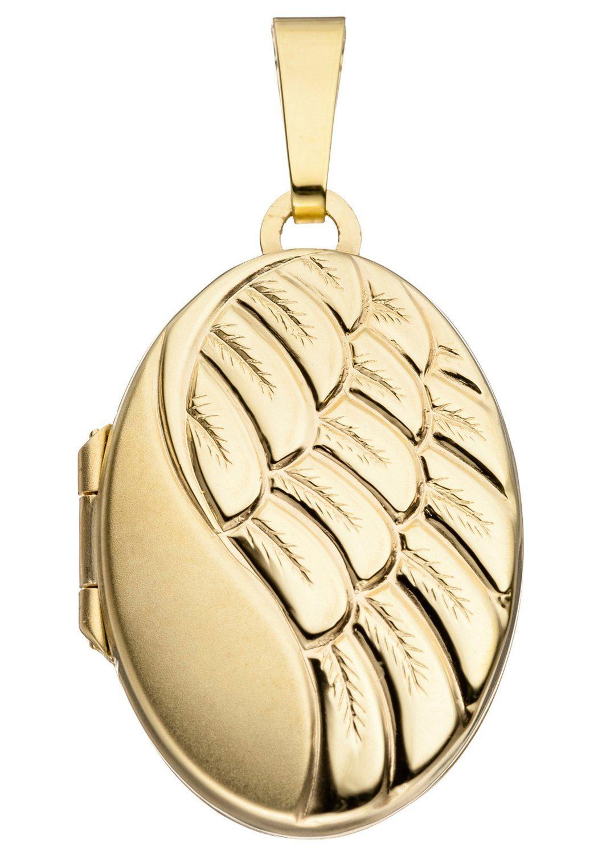 333 Online Medallionanhänger Jobo Oval Gold Kaufen A54RjL