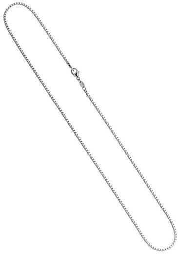 JOBO Goldkette, Venezianerkette 585 Weißgold 38 cm 1,5 mm