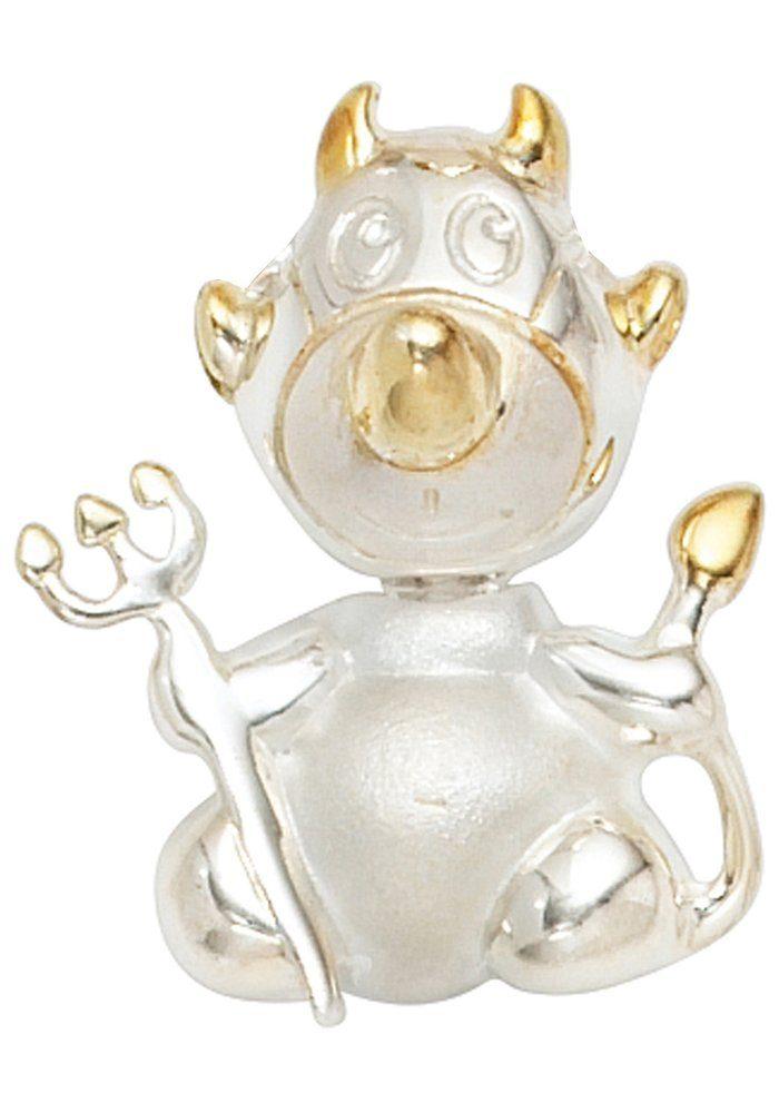 JOBO Kettenanhänger »Teufel« 925 Silber bicolor vergoldet