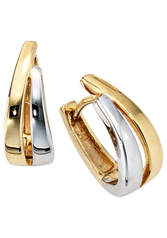 JOBO Paar Creolen, 333 Gold bicolor
