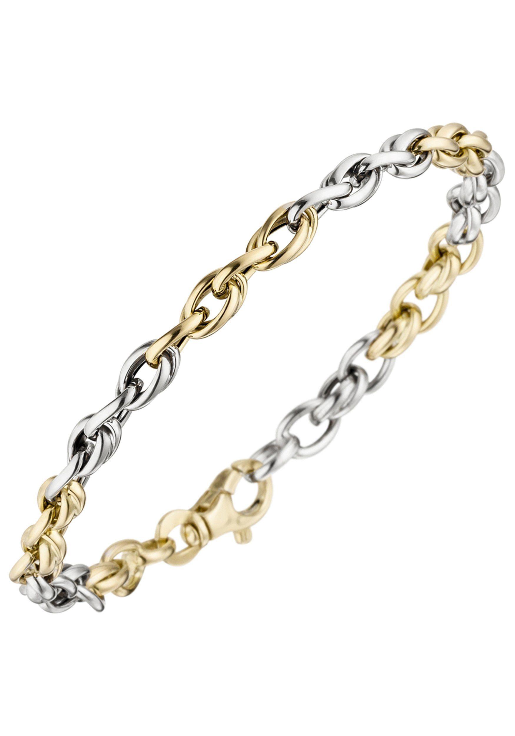JOBO Goldarmband 585 Gold bicolor 19 cm