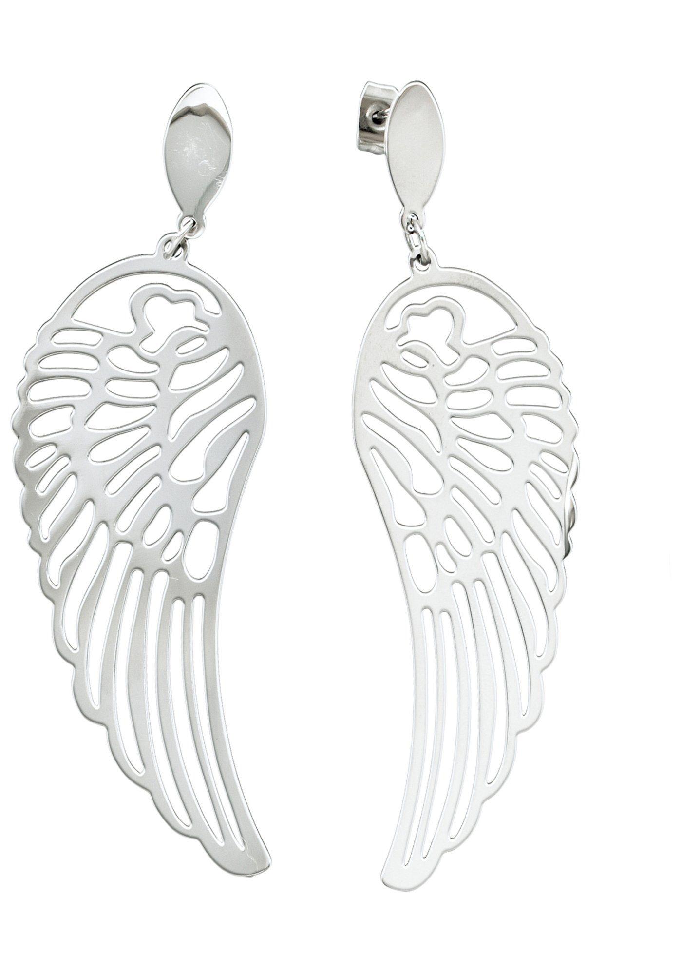 JOBO Paar Ohrhänger »Flügel« Edelstahl
