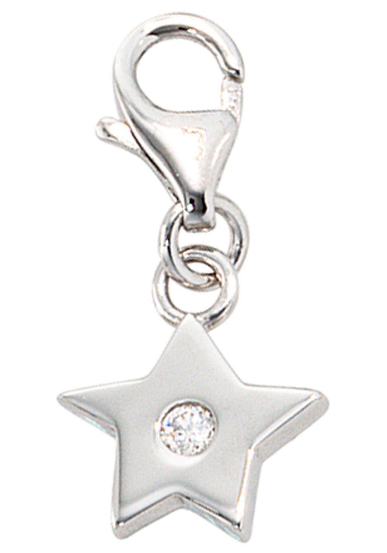 JOBO Charm Stern »Stern« 925 Silber mit Zirkonia