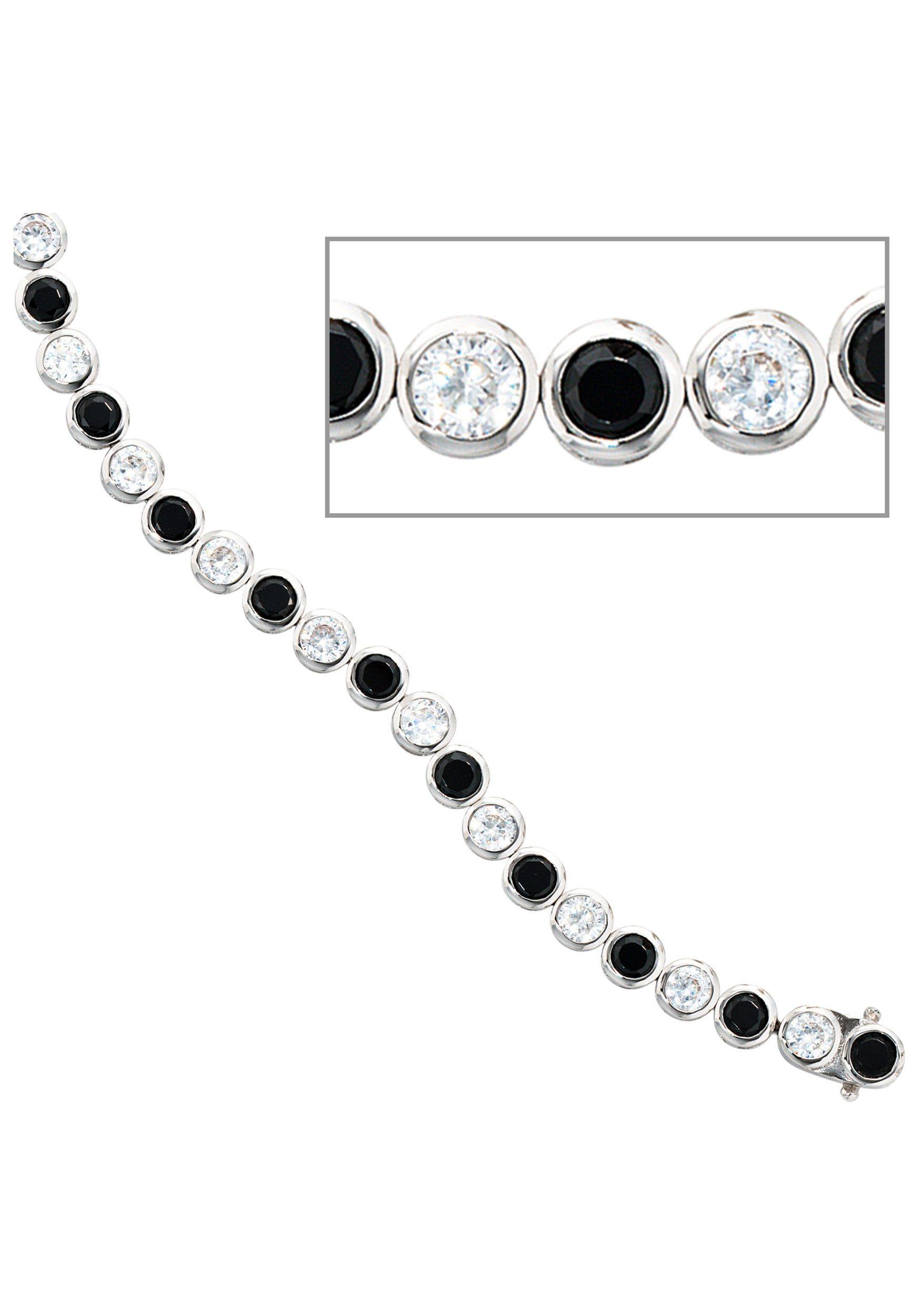 JOBO Silberarmband, 925 Silber mit Zirkonia 19 cm   Schmuck > Armbänder > Silberarmbänder   Silber   JOBO