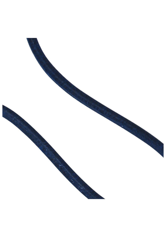JOBO Kette ohne Anhänger Leder blau