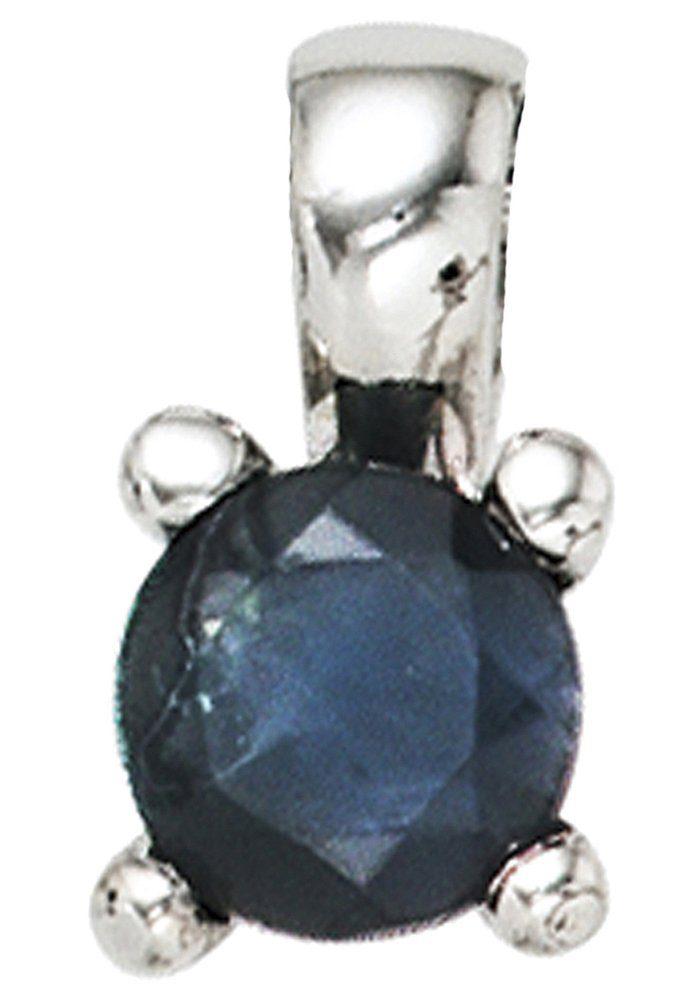 JOBO Kettenanhänger 925 Silber mit Safir