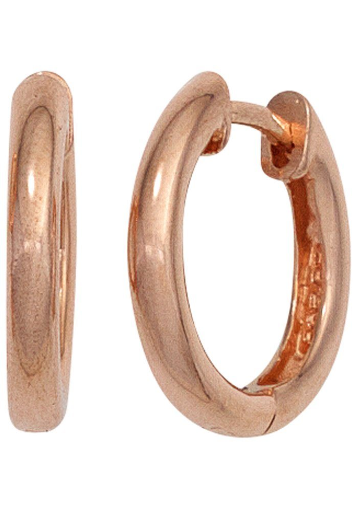 JOBO Paar Creolen rund 925 Silber roségold vergoldet | Schmuck > Ohrschmuck & Ohrringe > Creolen | Goldfarben | JOBO