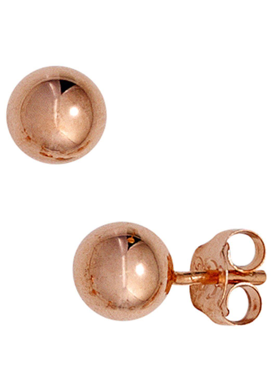 JOBO Paar Ohrstecker 925 Silber roségold vergoldet