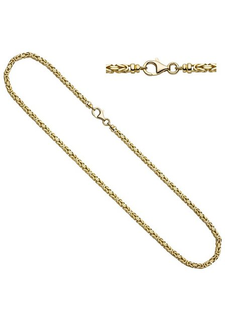 JOBO Goldkette Königskette 585 Gold 42 cm | Schmuck > Halsketten > Goldketten | Goldfarben | JOBO