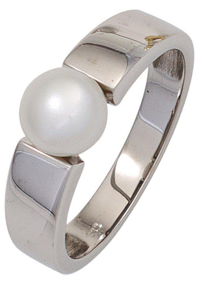 JOBO Perlenring 333 Weißgold mit einer Süßwasser-Zuchtperle   Schmuck > Ringe > Perlenringe   JOBO
