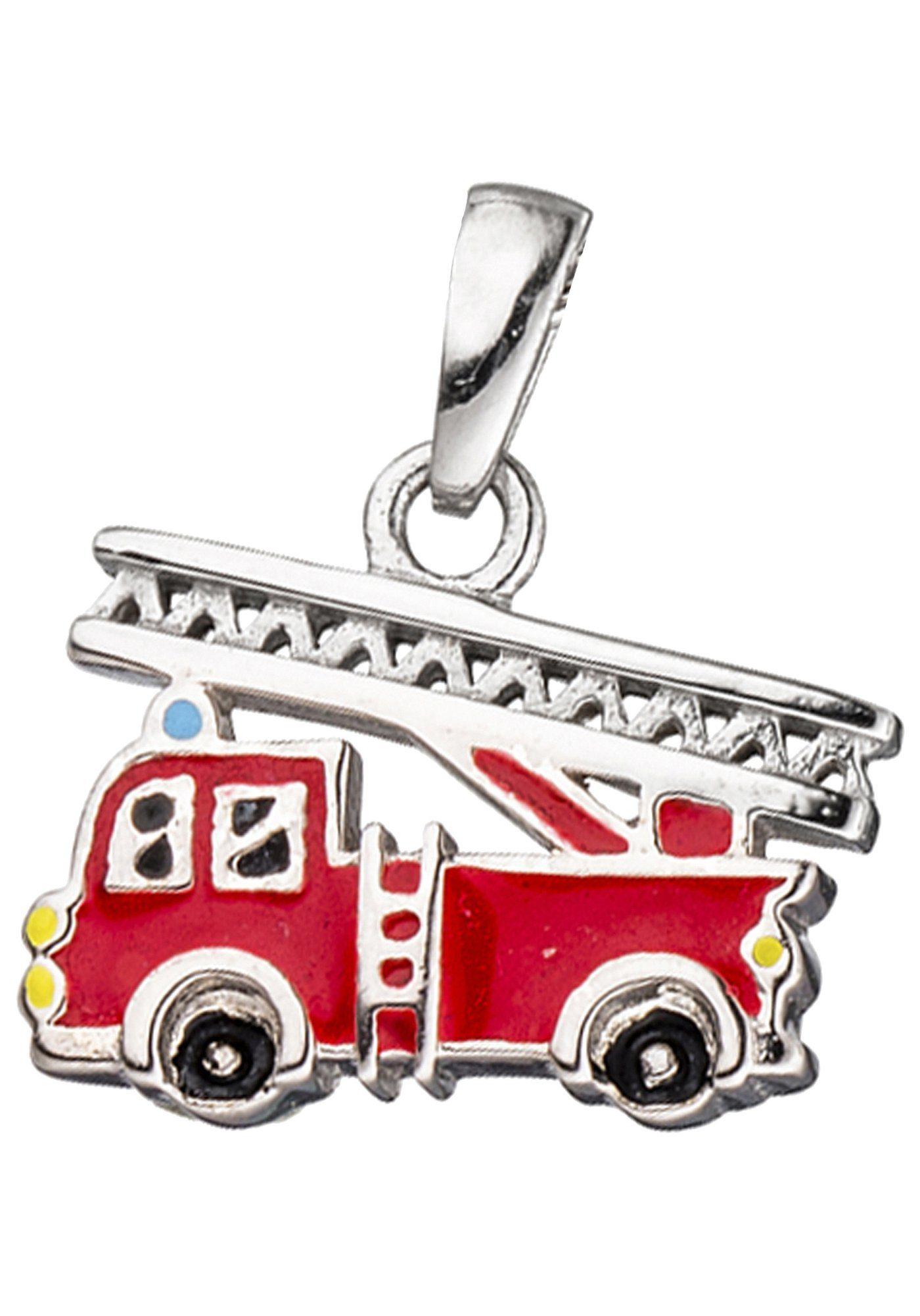 JOBO Kettenanhänger »Feuerwehrauto« 925 Silber