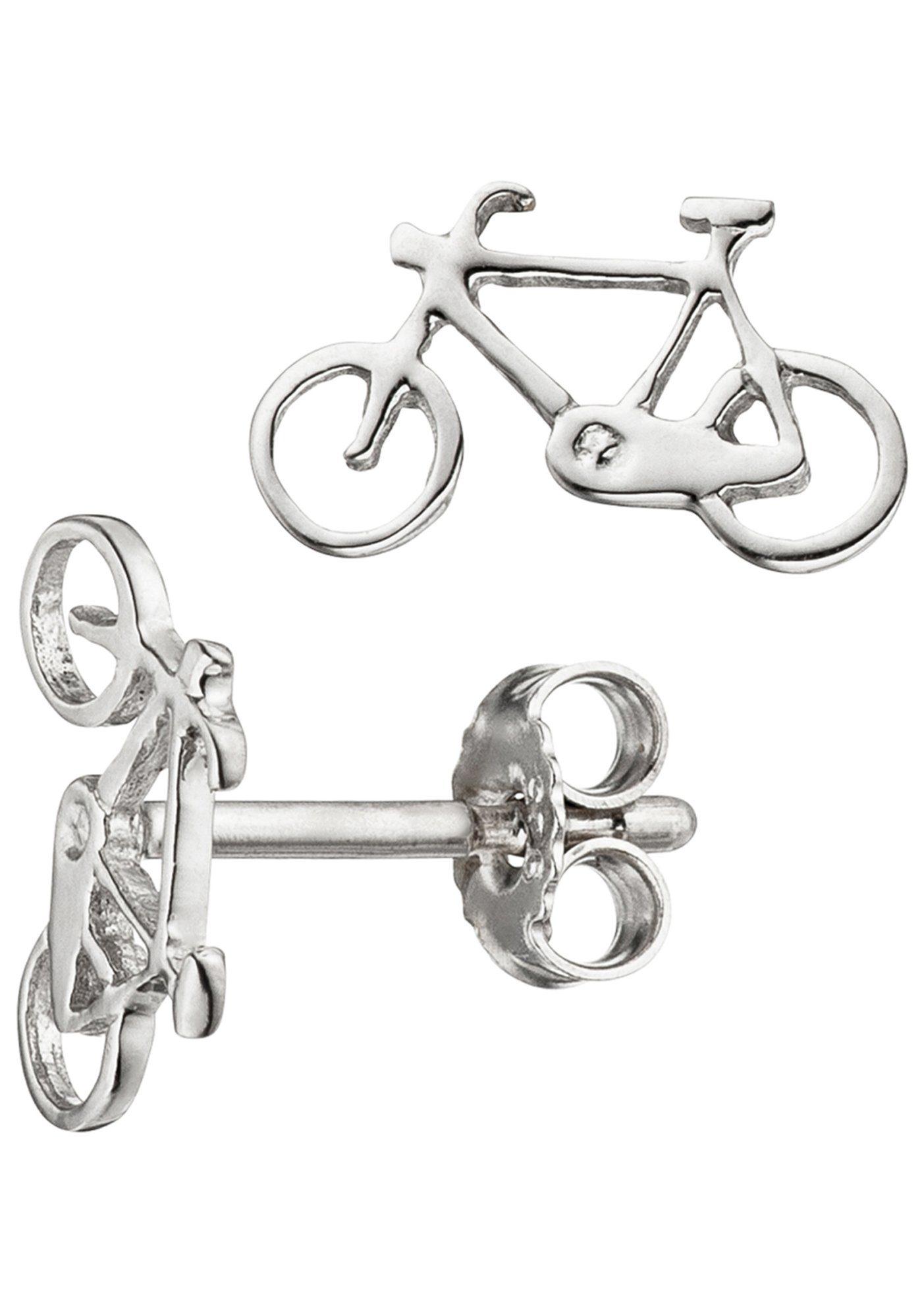 JOBO Paar Ohrstecker »Fahrrad« 925 Silber