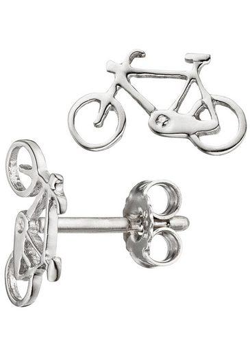JOBO Paar Ohrstecker »Fahrrad«, 925 Silber