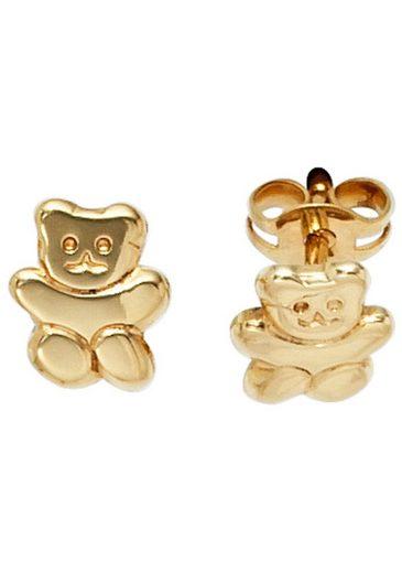 JOBO Paar Ohrstecker »Teddy«, 333 Gold