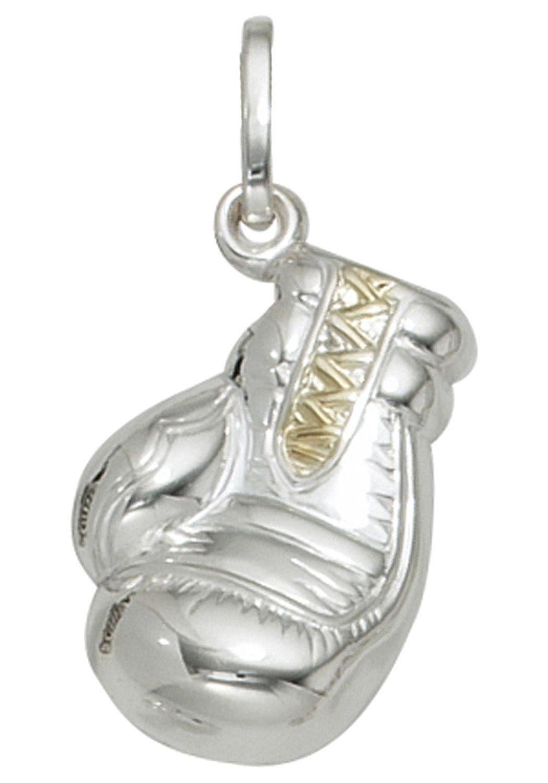 JOBO Kettenanhänger »Boxhandschuh« 925 Silber bicolor vergoldet