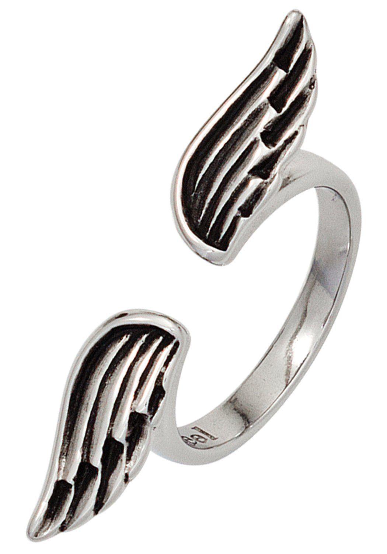 JOBO Fingerring »Flügel« Edelstahl