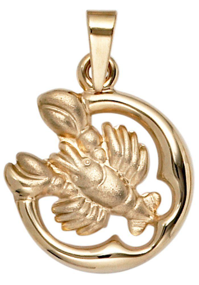 JOBO Sternzeichenanhänger Sternzeichen Krebs 375 Gold