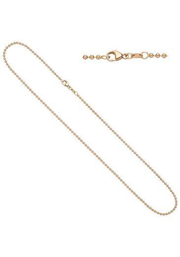JOBO Goldkette, Kugelkette 585 Roségold 42 cm 2,0 mm