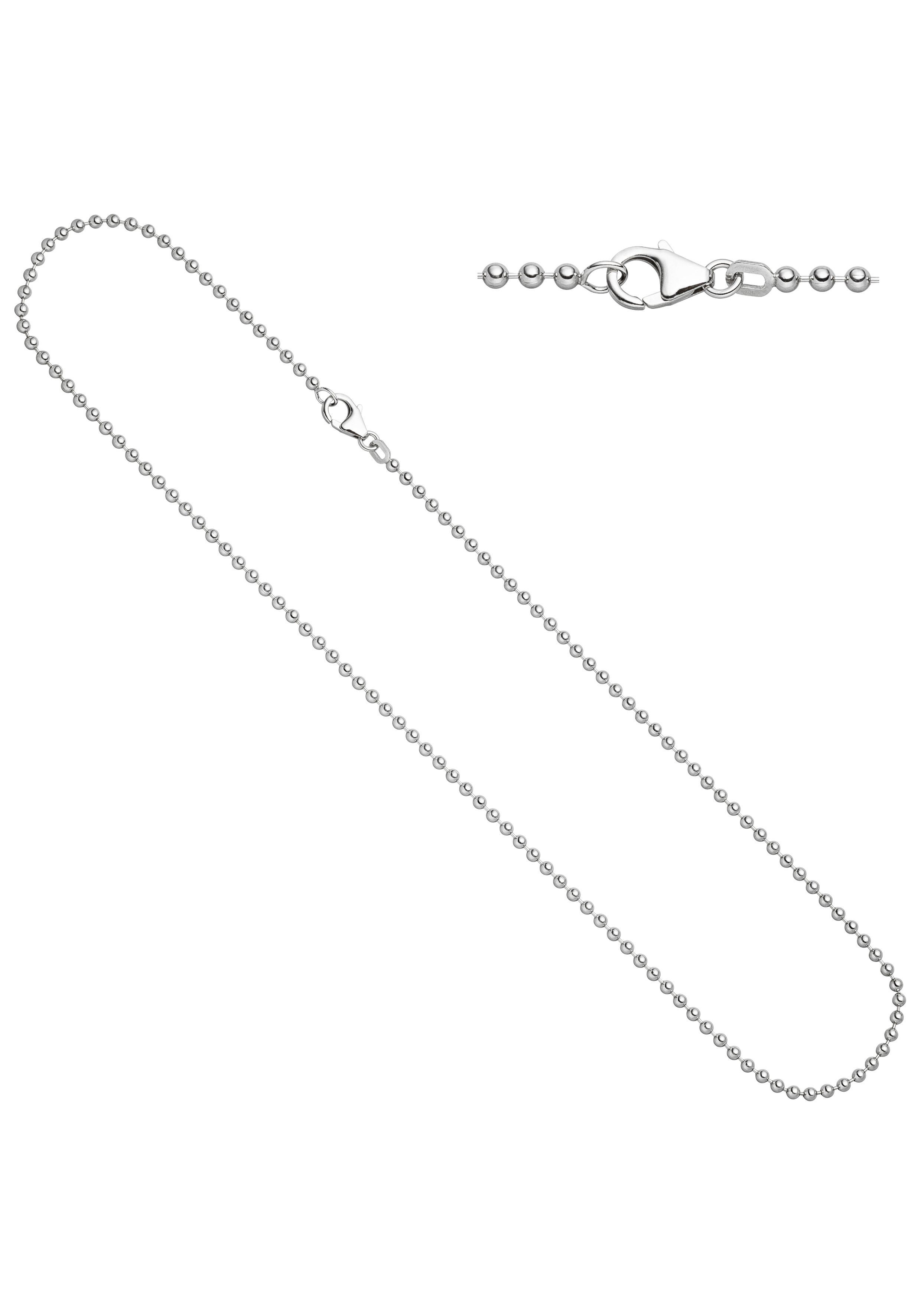 JOBO Silberkette Kugelkette 925 Silber 45 cm 2,5 mm