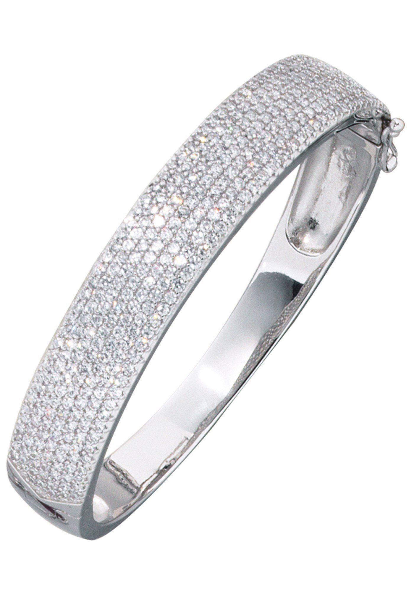JOBO Armreif 925 Silber mit Zirkonia