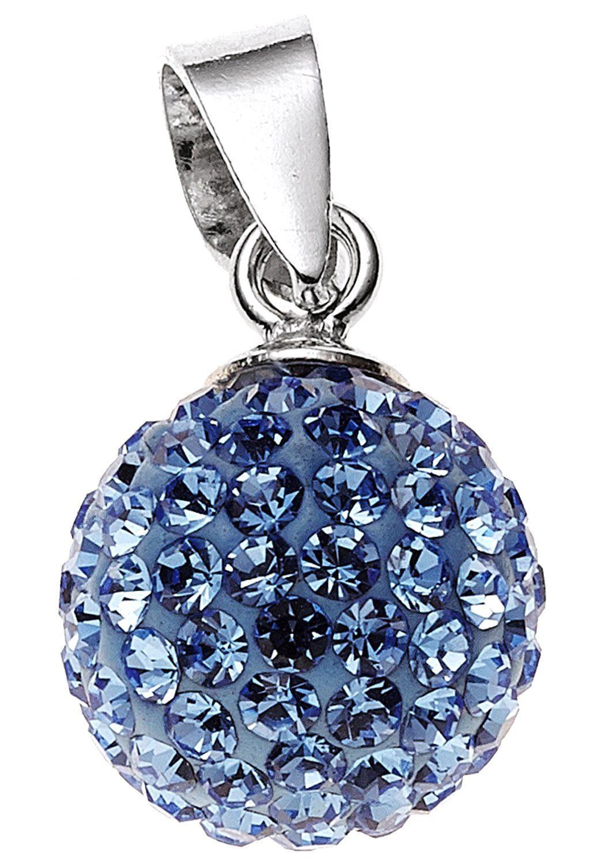JOBO Kugelanhänger »Kugel« 925 Silber mit Kristallen