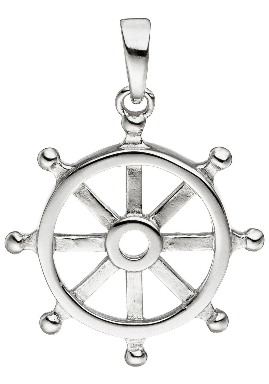 JOBO Kettenanhänger »Steuerrad« 925 Silber