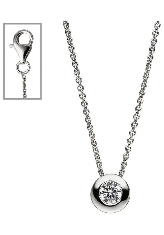 3c9e7ee22f54 JOBO Kette mit Anhänger rund 925 Silber mit Zirkonia 42 cm online ...