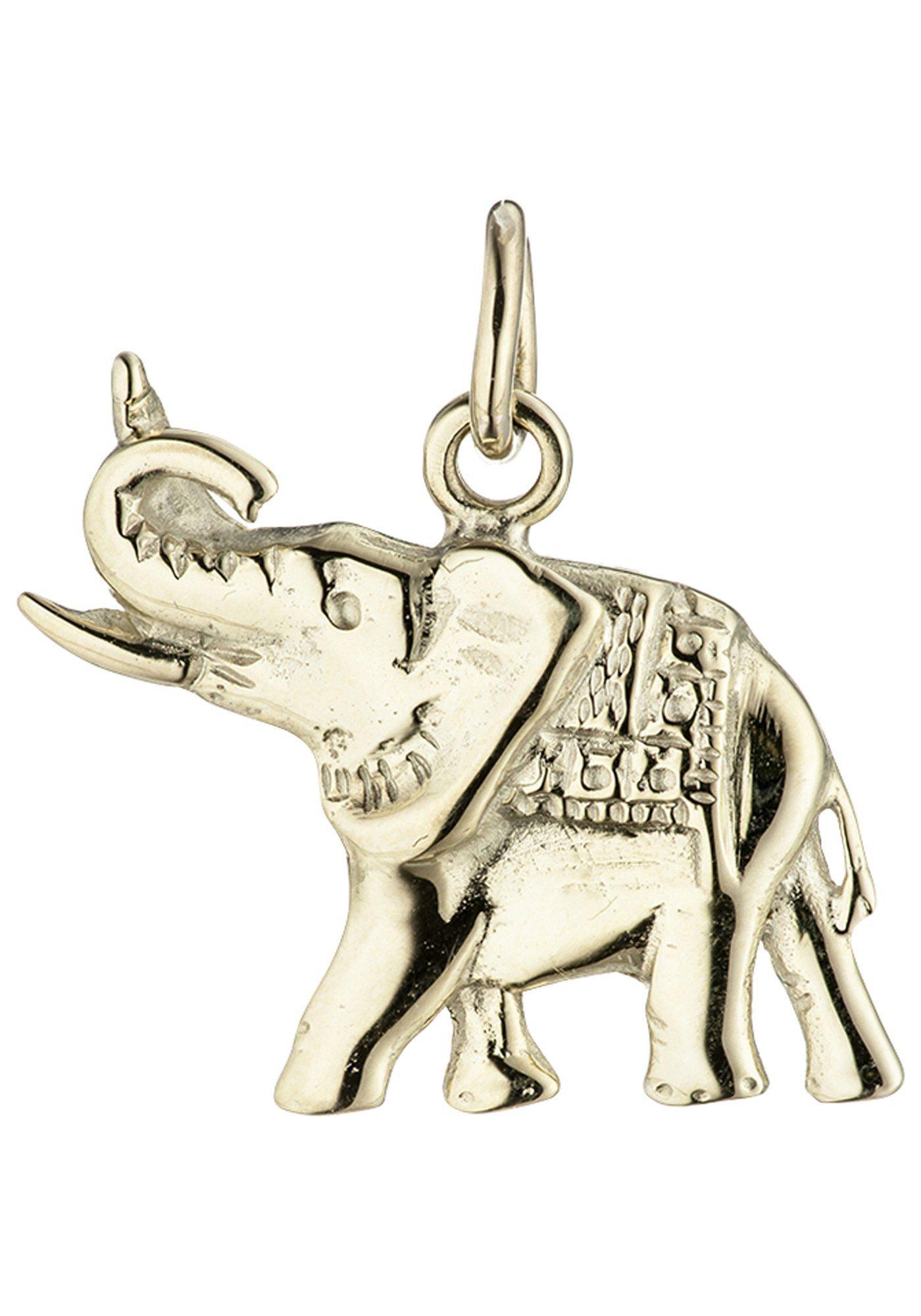 JOBO Kettenanhänger »Elefant« 585 Gold