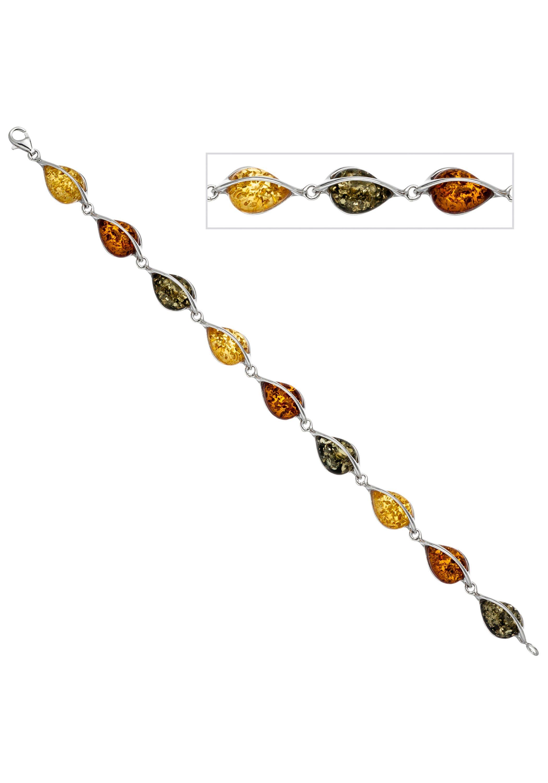 JOBO Armband 925 Silber mit Bernstein 19 cm | Schmuck > Armbänder > Silberarmbänder | Silber - Bernstein | JOBO