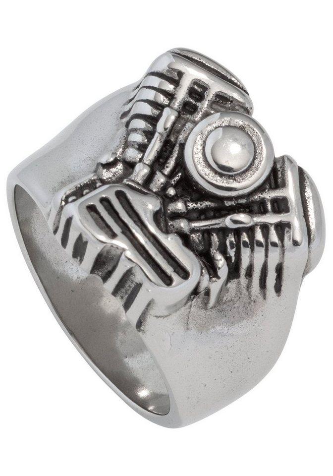 JOBO Fingerring »Motor« Edelstahl | Schmuck > Ringe > Fingerringe | JOBO