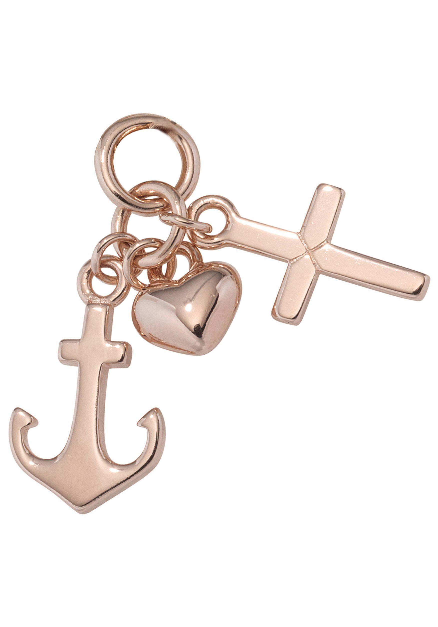 JOBO Kettenanhänger »Glaube, Liebe, Hoffnung« 925 Silber roségold vergoldet