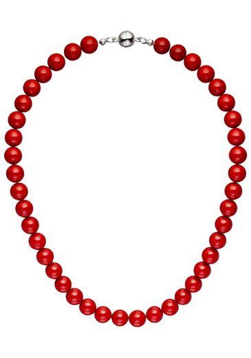 JOBO Perlenkette, mit Muschelkern-Perlen 45 cm