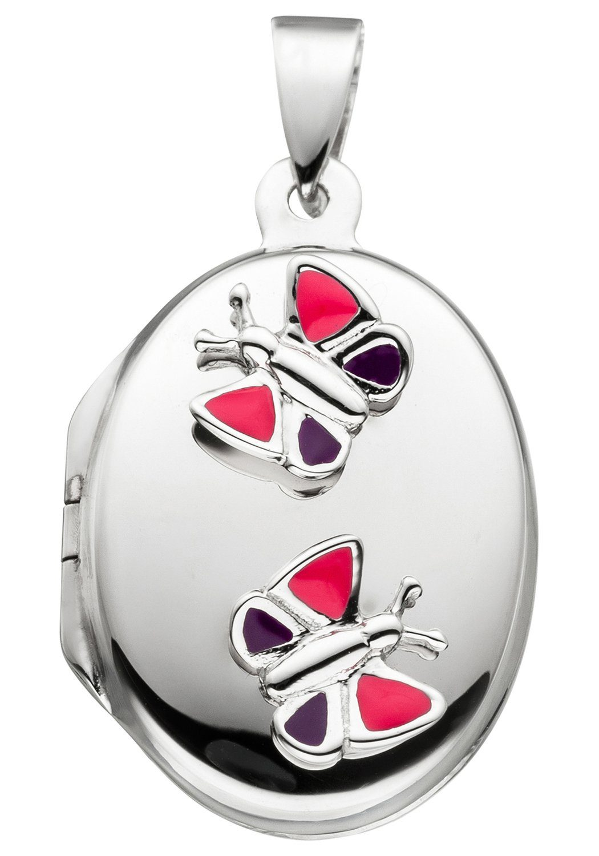 JOBO Medallionanhänger »Schmetterlinge« 925 Silber