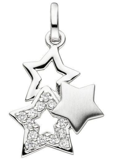 JOBO Sternanhänger »Sterne« 925 Silber mit Zirkonia
