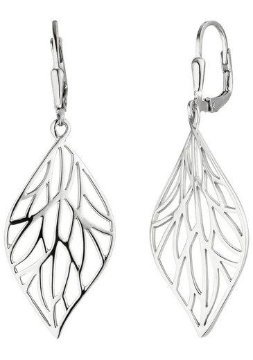 JOBO Paar Ohrhänger »Blatt«, 925 Silber