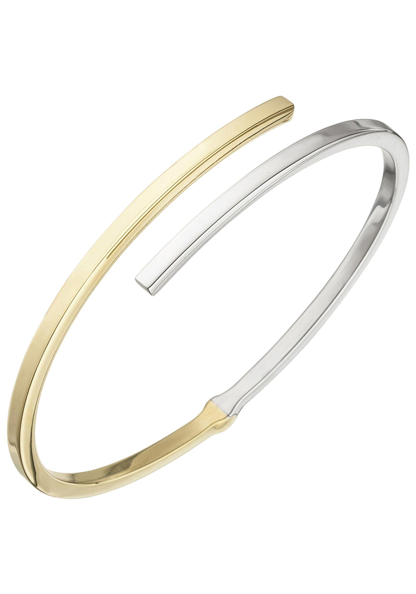 JOBO Armreif oval 925 Silber bicolor vergoldet