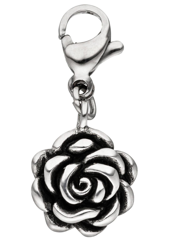 JOBO Charm Blume »Rose« Edelstahl