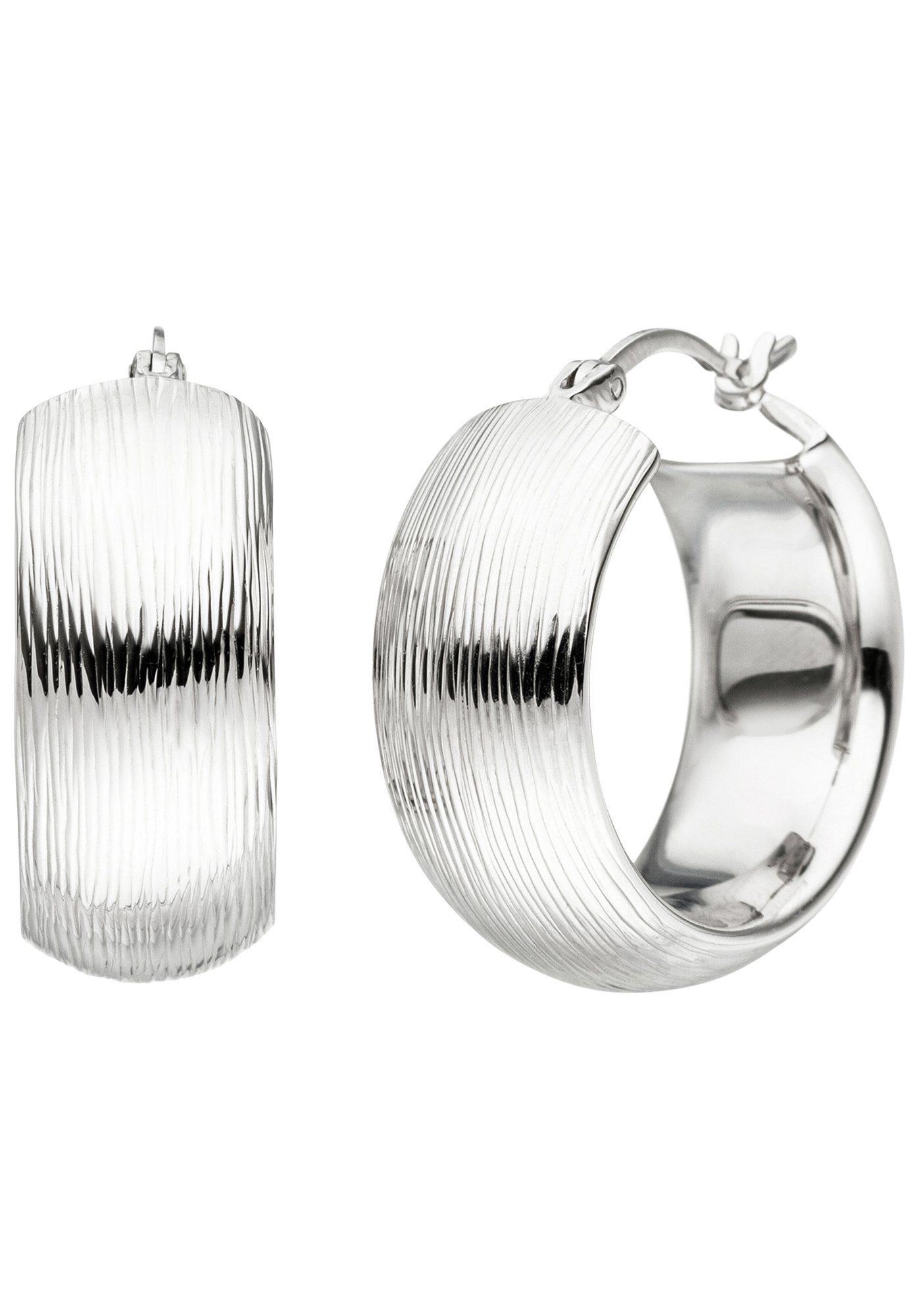 JOBO Paar Creolen breit 925 Silber