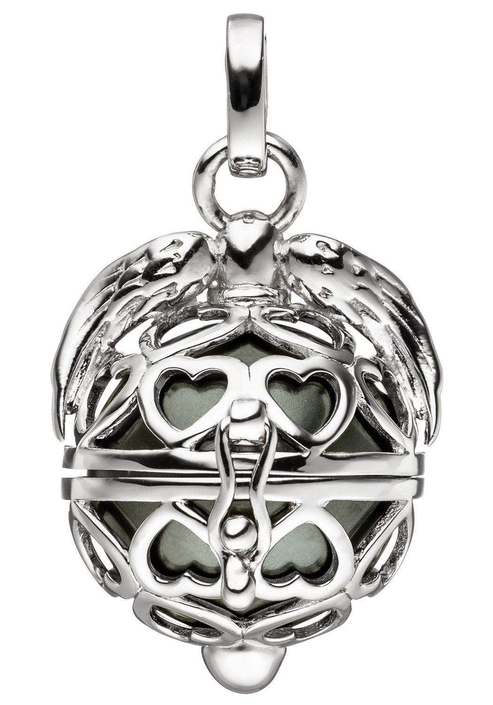 JOBO Kettenanhänger »Kugel« 925 Silber mit synthetischer Perle