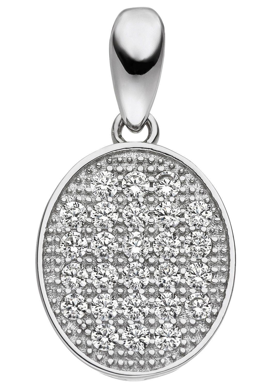 JOBO Kettenanhänger oval 925 Silber mit Zirkonia | Schmuck > Halsketten > Ketten ohne Anhänger | JOBO