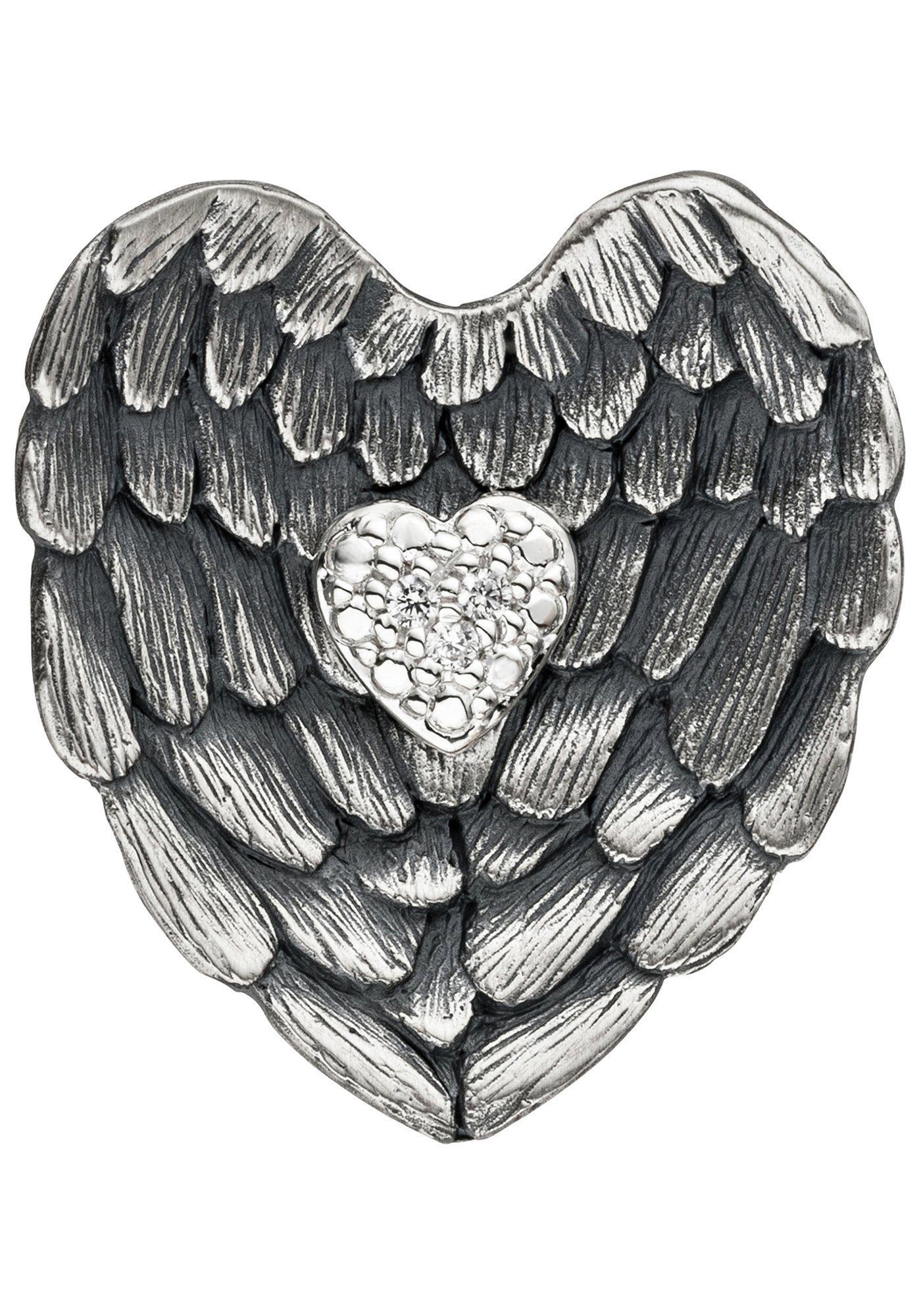 JOBO Herzanhänger »Herz« 925 Silber mit Zirkonia