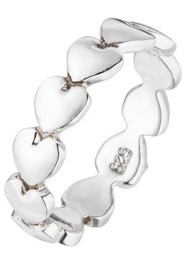 JOBO Silberring Herz 925 Silber