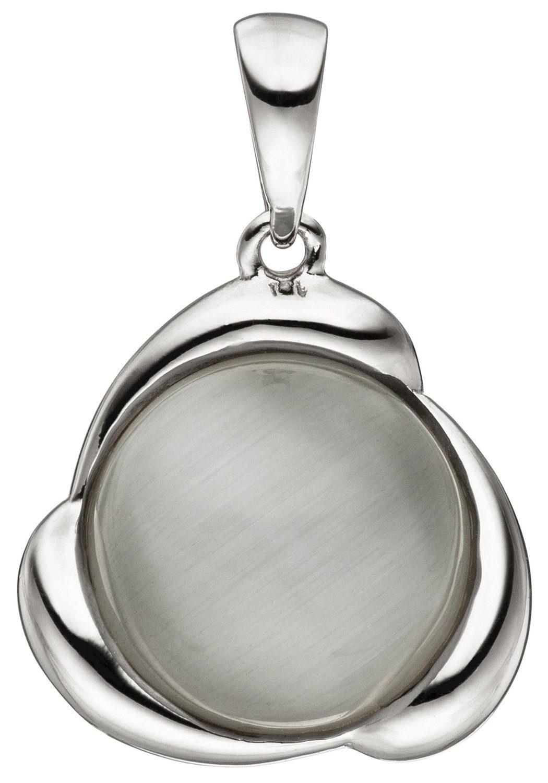 JOBO Kettenanhänger 925 Silber mit synthetischem Katzenauge