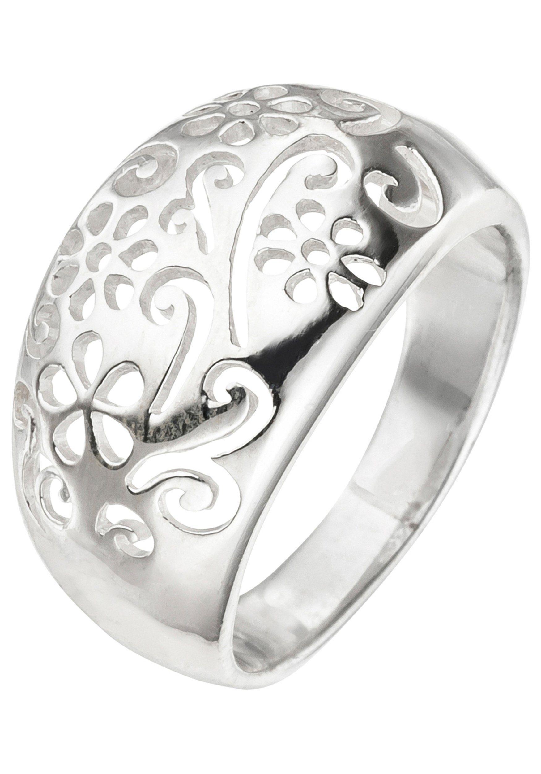 10,4 mm Damen Ring 925 Sterling Silber matt 18 Zirkonia Silberring Breite ca