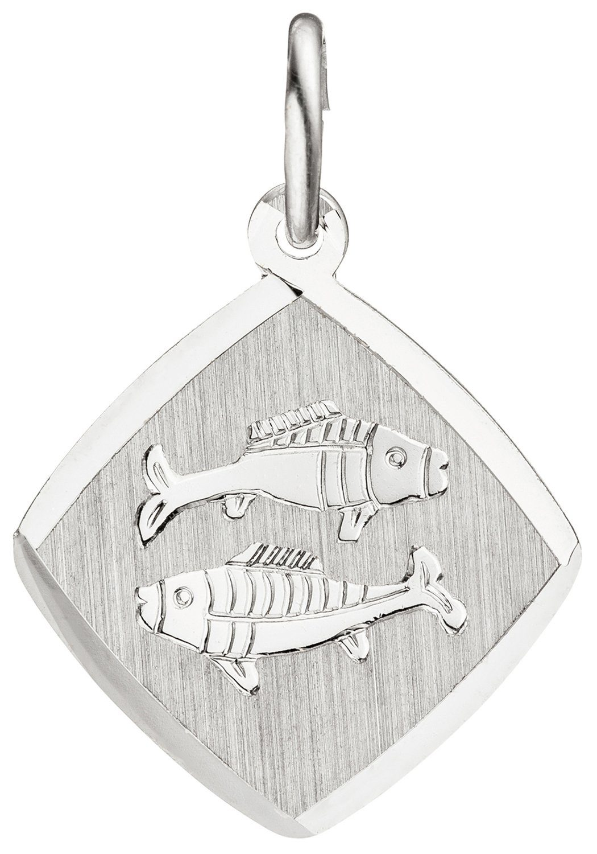 JOBO Sternzeichenanhänger Sternzeichen Fische 925 Silber