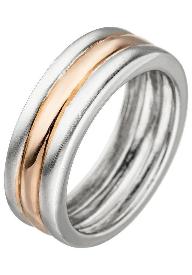JOBO Fingerring 925 Silber bicolor vergoldet | Schmuck > Ringe > Fingerringe | JOBO
