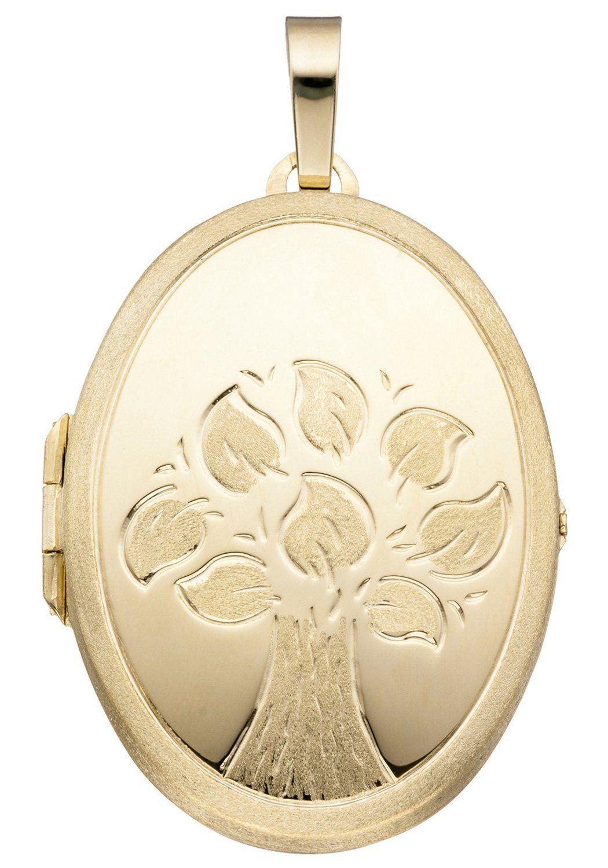 JOBO Medallionanhänger »Baum« oval 585 Gold