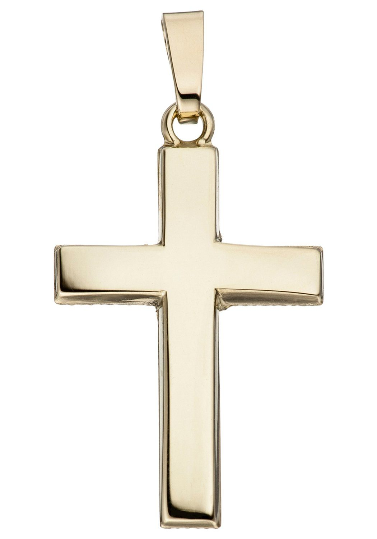 JOBO Kreuzanhänger »Kreuz« Kreuz 585 Gold