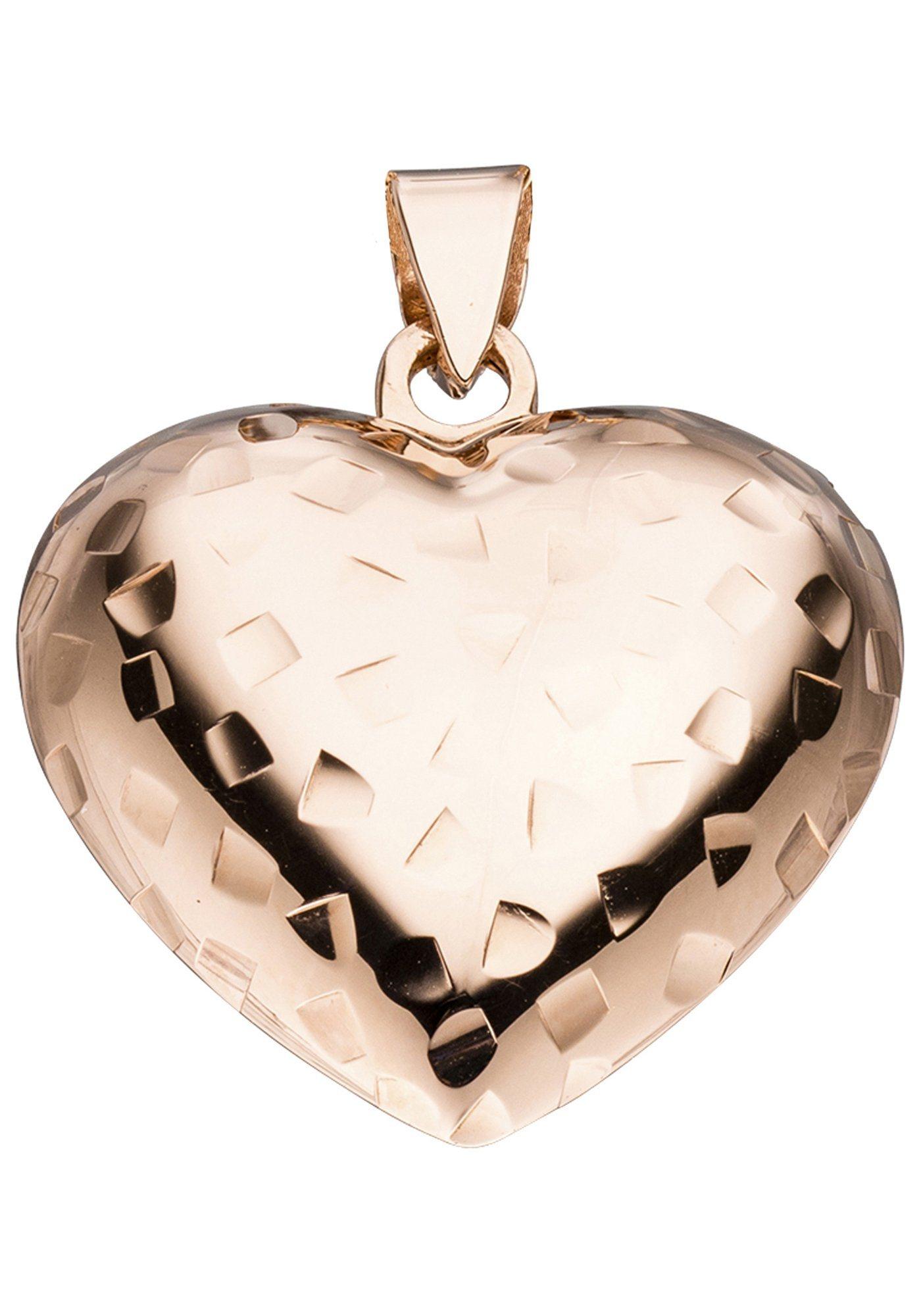 JOBO Herzanhänger »Herz« 925 Silber roségold vergoldet | Schmuck > Halsketten > Herzketten | Silber | JOBO