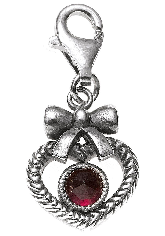 JOBO Charm Herz »Herz« 925 Silber mit Granat
